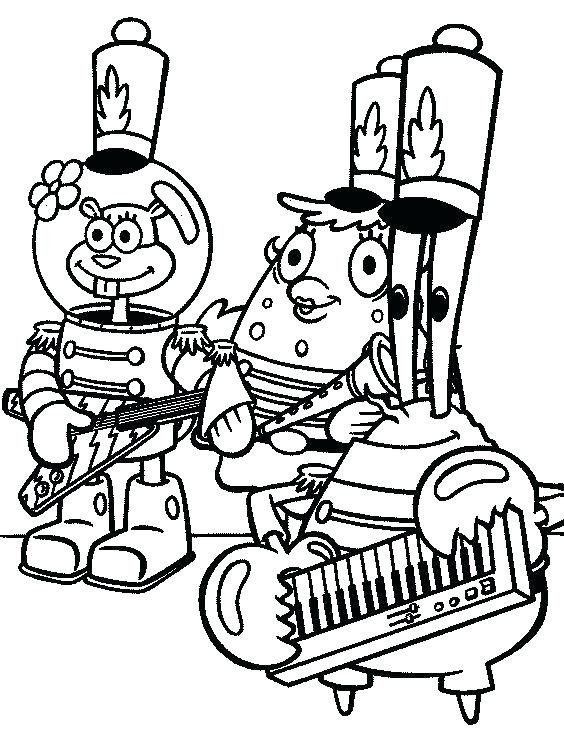 564x734 Sandy Cheeks Coloring Pages