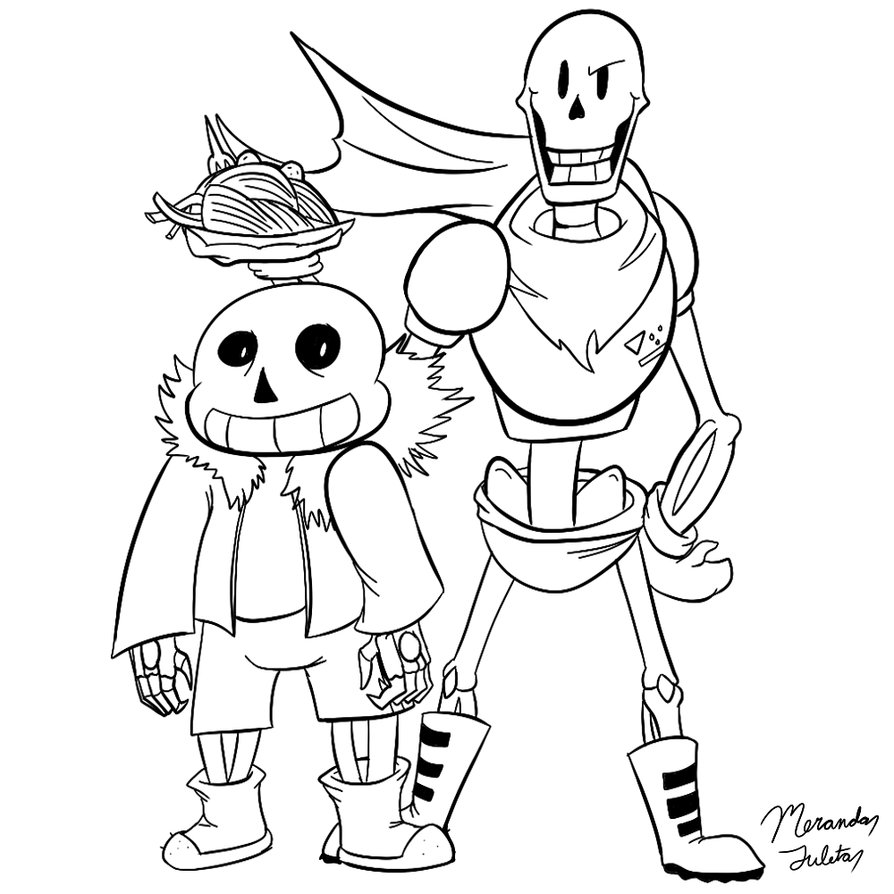 Sans And Papyrus Coloring Pages At Getdrawings Com Free For