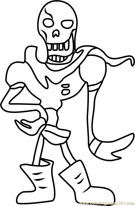 Sans And Papyrus Coloring Pages at GetDrawings | Free download
