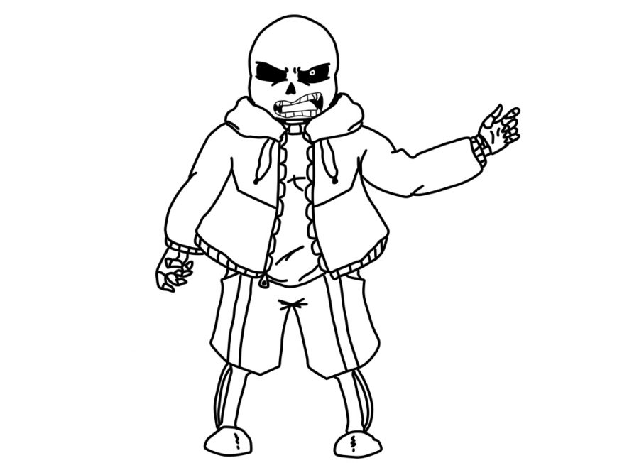 Sans And Papyrus Coloring Pages At Getdrawings Free Download