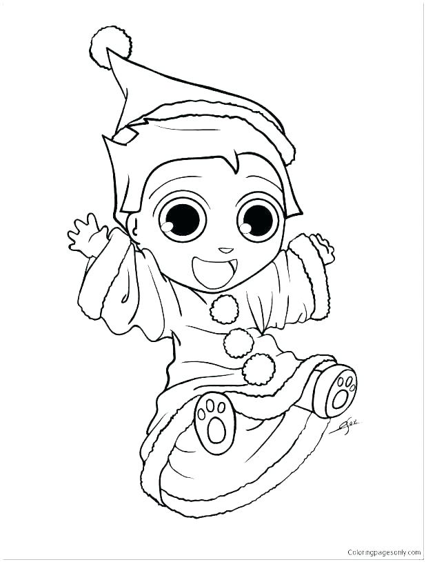 618x815 Printable Elf Coloring Pages Sh S Santa Elves Coloring Pages