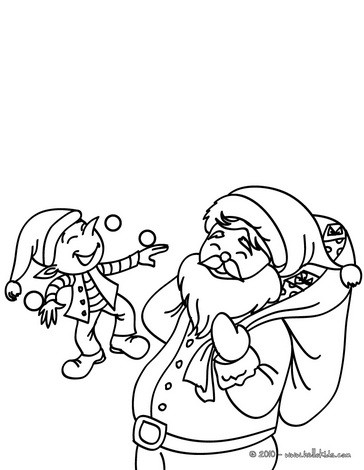 364x470 Santa's Helpers Coloring Pages
