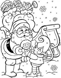 236x302 Christmas Coloring Pages Free Printable, Free And Santa