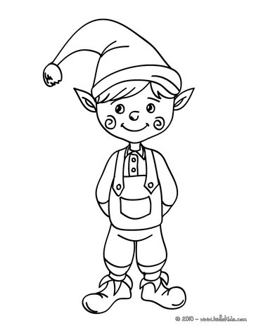 364x470 Santa Claus And Elf Juggler Coloring Pages