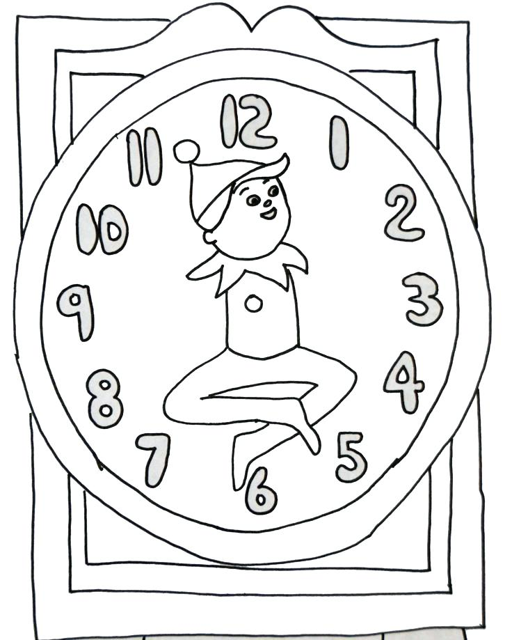 736x919 Elf Coloring Pages Printable Professional