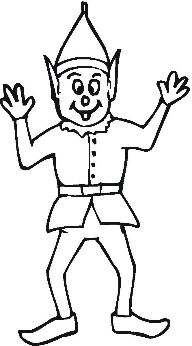 665x1200 Elf Coloring Pages