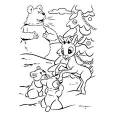 photograph regarding Reindeer Printable Coloring Pages titled Santa And Reindeer Coloring Internet pages Printable at GetDrawings