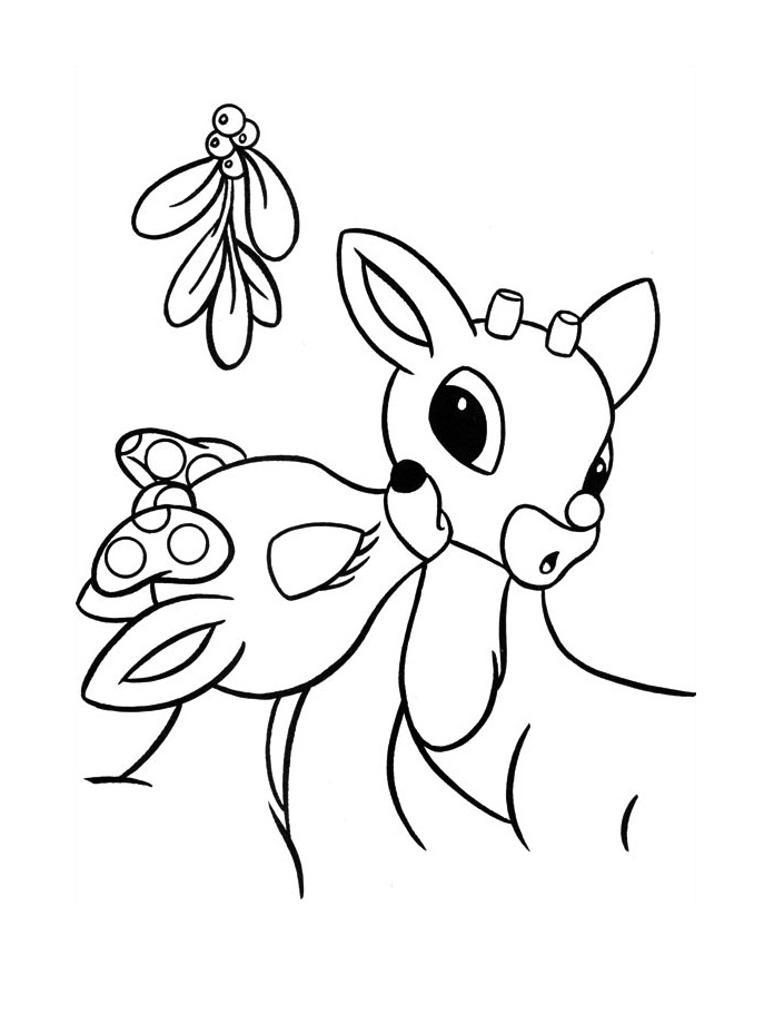 705x920 Free Printable Rudolph Coloring Pages For Kids