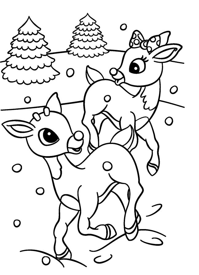 Santa And Rudolph Coloring Pages at GetDrawings | Free ...