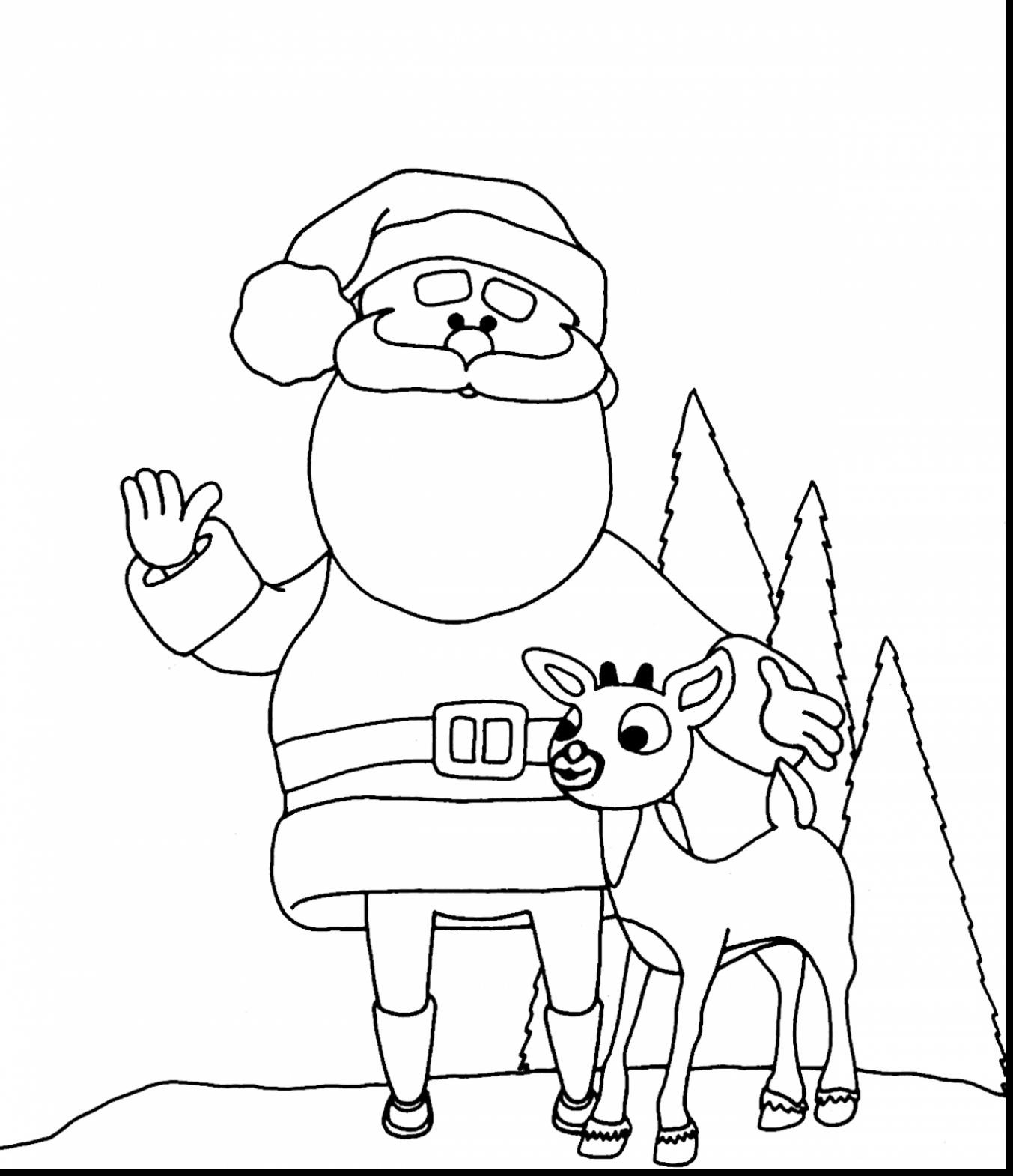 1353x1570 Rudolph And Santa Claus Coloring Pages For Kids Best Of Unique