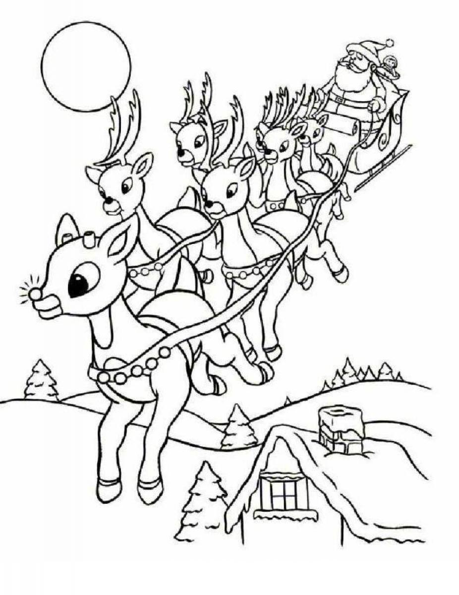 926x1200 Rudolph Reindeer Coloring Pages