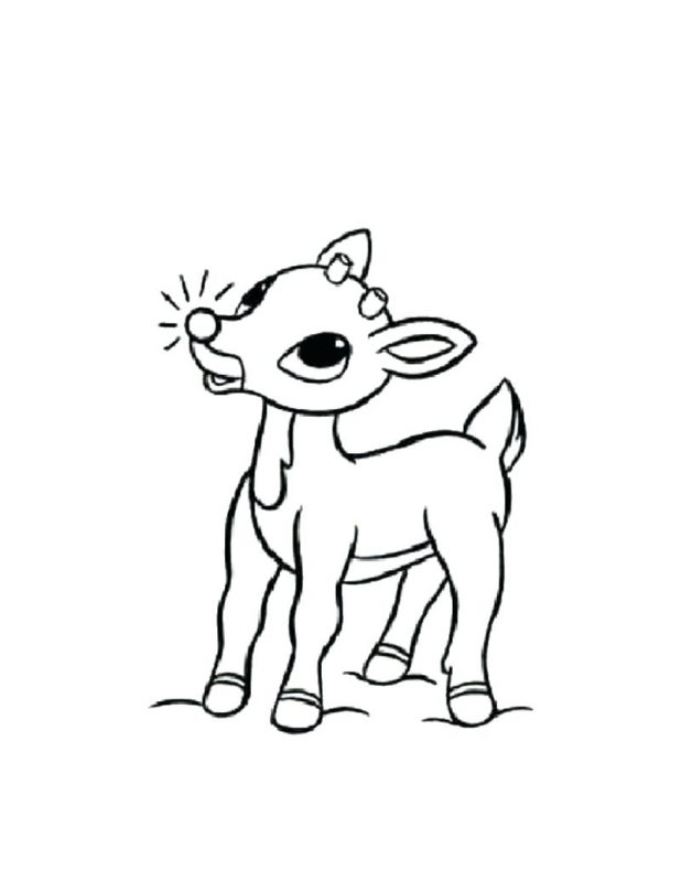 618x799 Christmas Coloring Pages Rudolph Reindeer Coloring Pages Printable