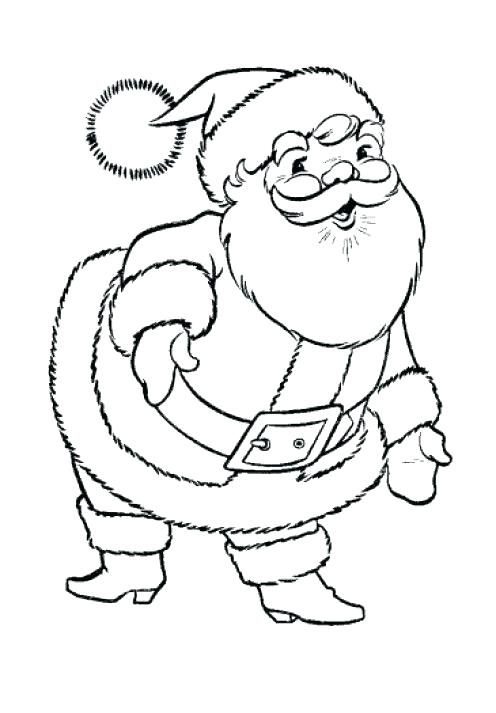 496x713 Santa Claus Coloring Sheet Plus Under The Snow Santa Claus Hat