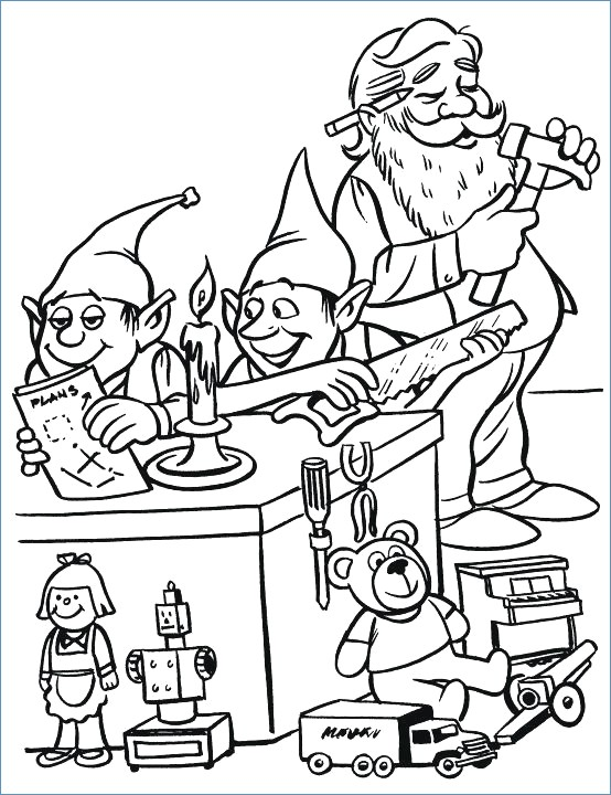 554x720 Santa Sleigh Ride Christmas Coloring Page
