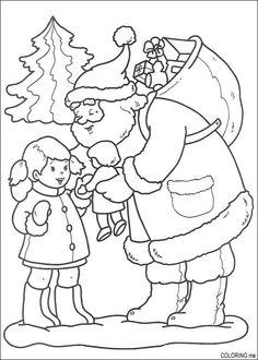 236x330 Printable Santa And Reindeer Coloring Page