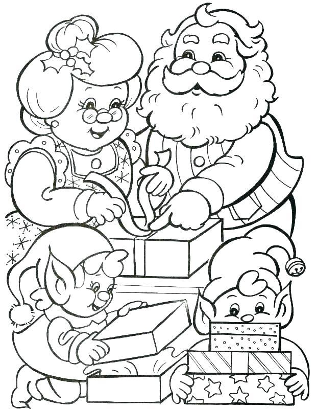 621x800 Santa Claus And Reindeer Coloring Pages Vintage With His Deer
