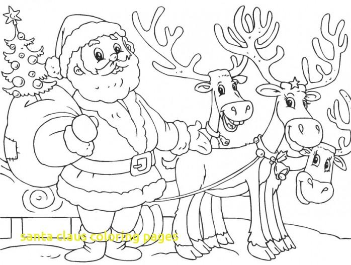 698x527 Santa Claus Coloring Pages