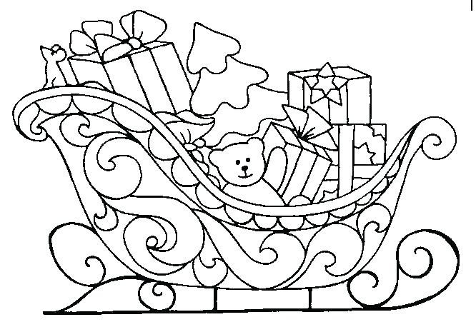 666x465 Santa Sleigh Coloring Page Sleigh Coloring Page In Sleigh Coloring