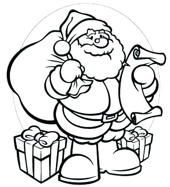580x638 Santa Claus Coloring Pages Free Icontent