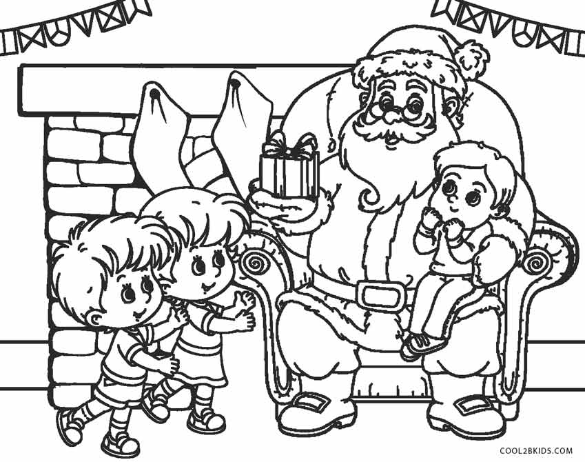 849x670 Free Printable Santa Coloring Pages For Kids