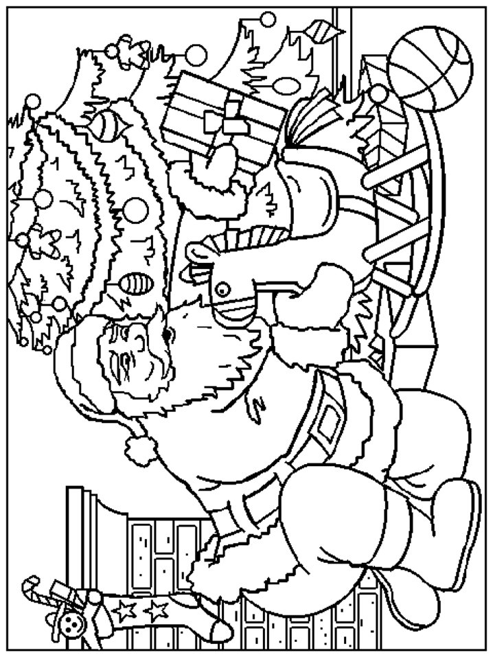 718x957 Kids N Coloring Pages Of Christmas Santa Claus