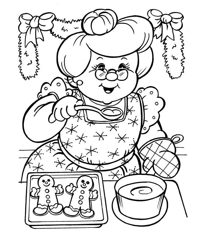 659x800 Mrs Claus Coloring Pages