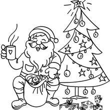 220x220 Santa Claus Under The Snow Coloring Pages
