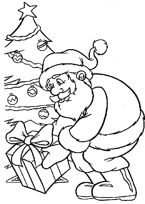 571x805 Santa Claus Coloring Pages Kids N Fun Coloring Pages