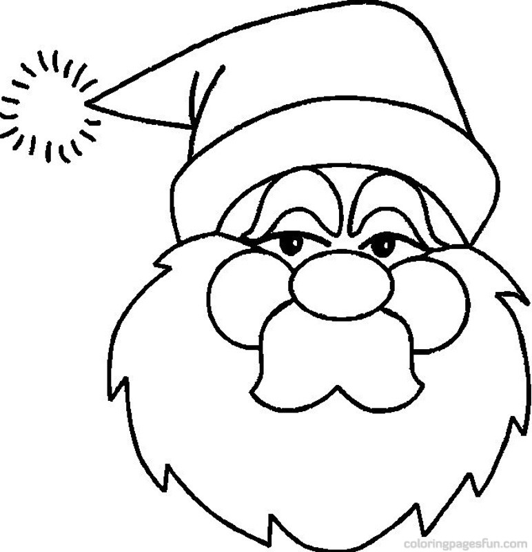 772x800 Christmas Santa Claus Coloring Pages