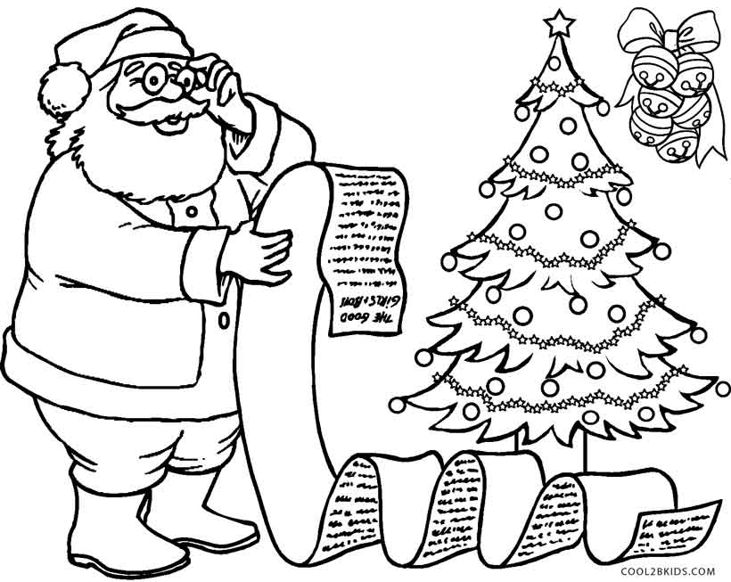 820x653 Free Printable Santa Coloring Pages For Kids