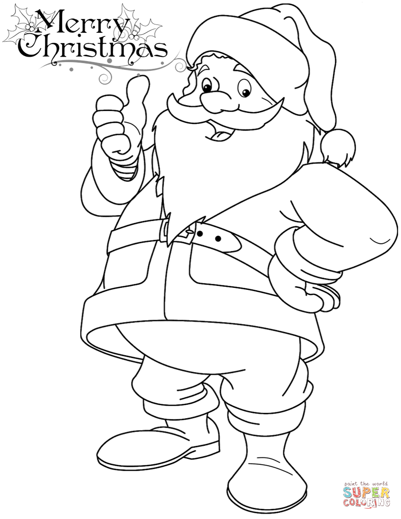821x1062 Funny Santa Claus Coloring Page Christmas Pages