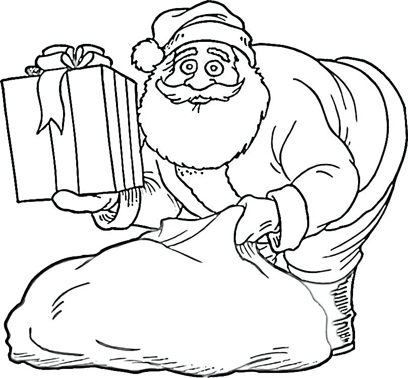 809x749 Santa Claus Coloring Pages Coloring Pages Coloring Pages Of Santa