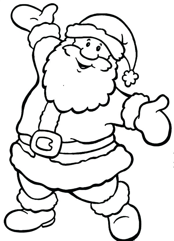 600x827 Santa Claus Colouring Pictures Santa Claus Coloring Pages