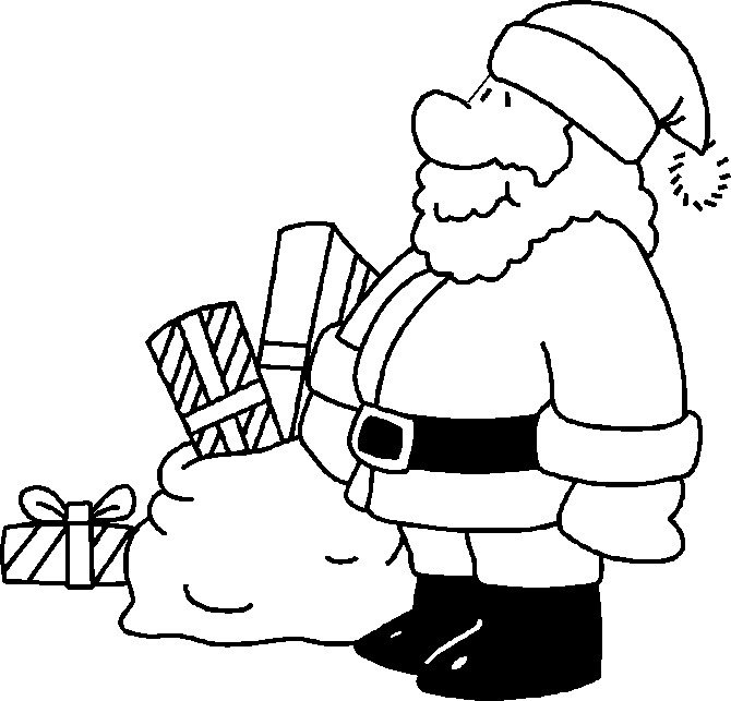 670x643 Santa Claus Colouring Pictures Santa Claus To Color Kids N Fun