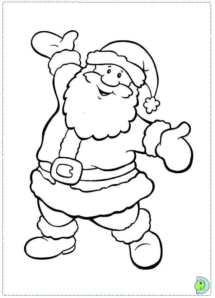 691x960 Santa Claus Coloring Page