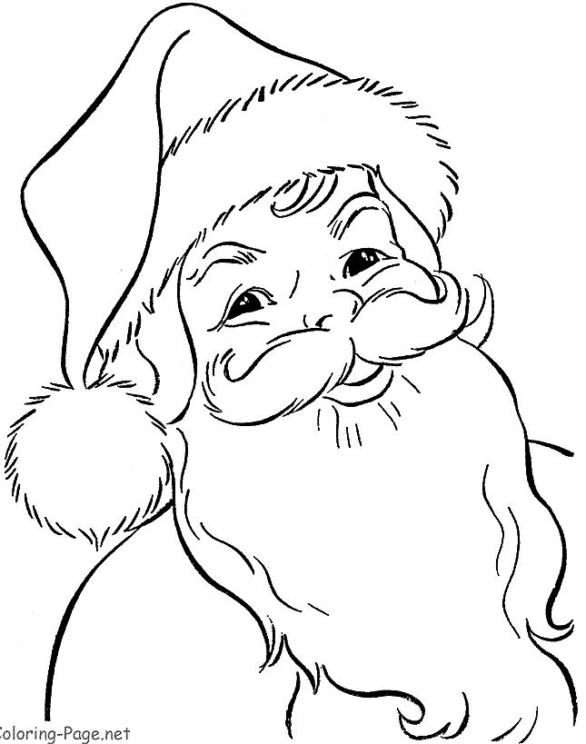 645x819 Printable Santa Claus Coloring Pages Free Santa Coloring Pages
