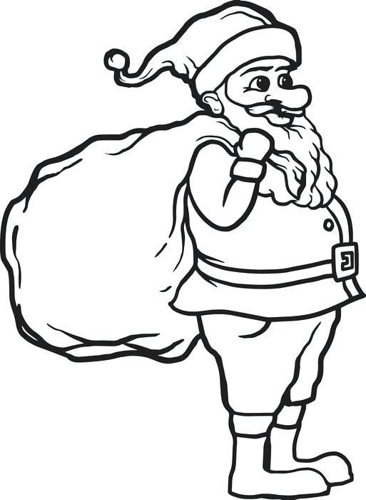513x700 Santa Claus Coloring Page Free Coloring Sheet Santa Claus Coloring