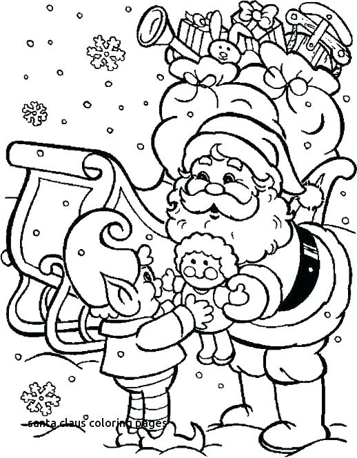 518x664 Santa Clause Coloring Pages Printable Coloring Pages Free