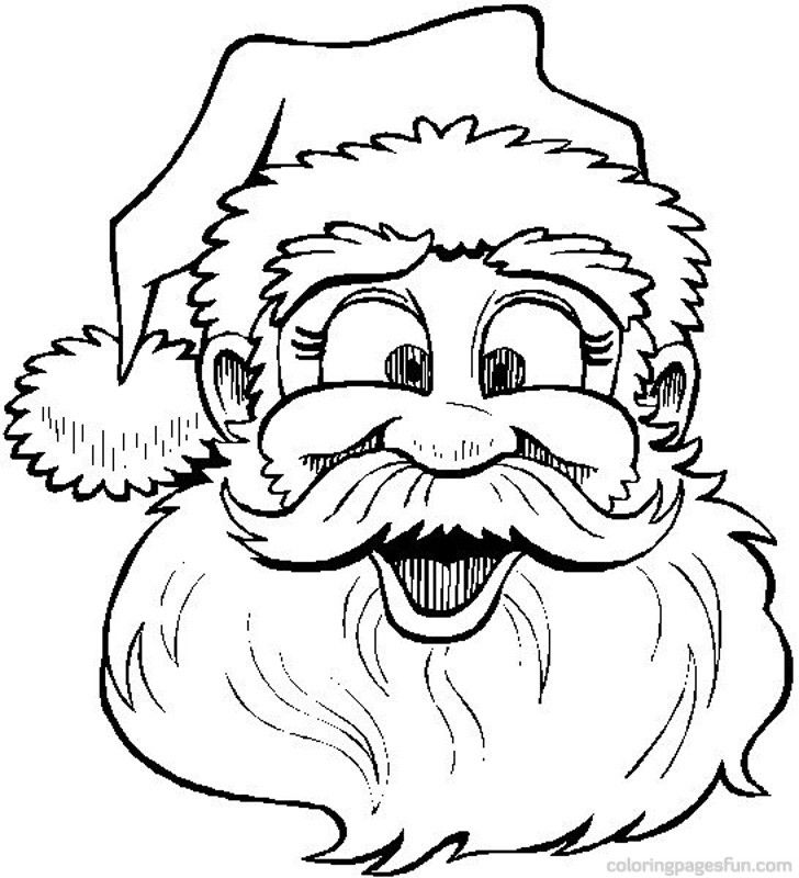 728x800 Christmas Santa Claus Coloring Pages Adult Coloring Pages