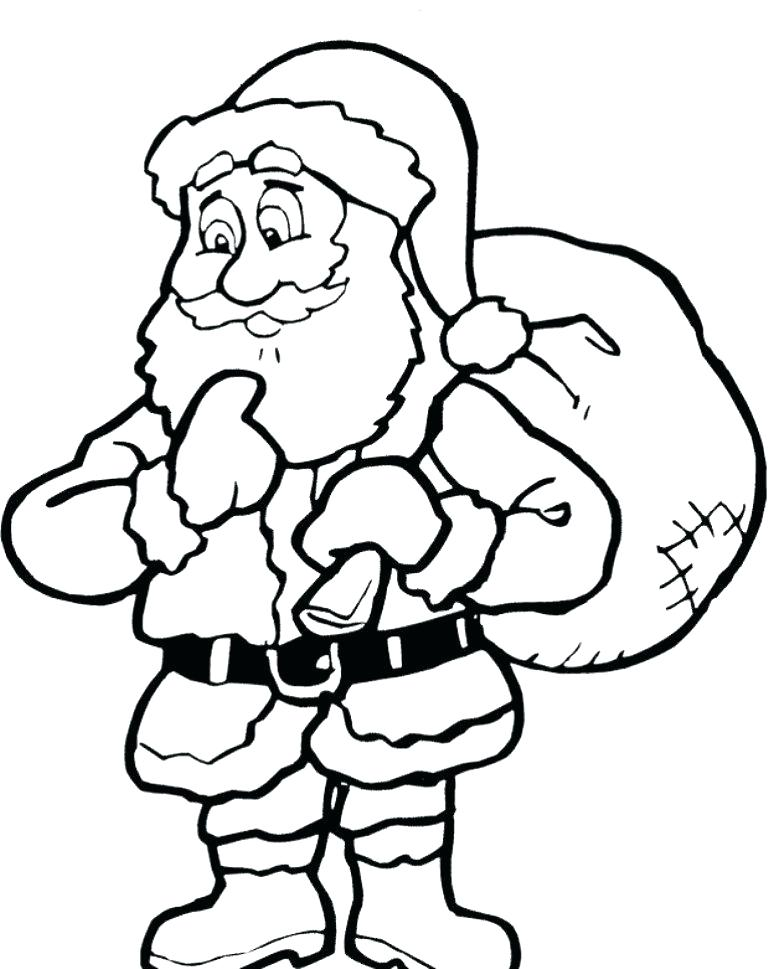 768x969 Coloring Pages Of Santa Claus Coloring Games Printable Coloring