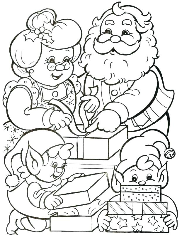 621x800 Santa Claus Colouring Pages Online Icontent