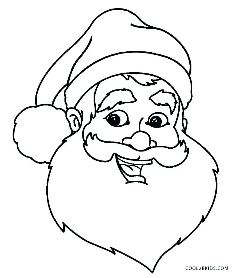 789x920 Coloring Pages Of Santa Claus Face Coloring Pages Face Coloring
