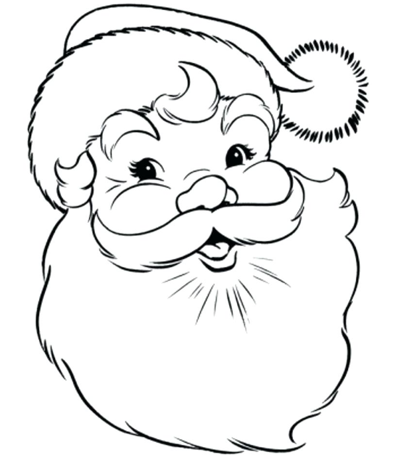 816x953 Santa Claus Coloring Page Face Of Coloring Pages Coloring Pages
