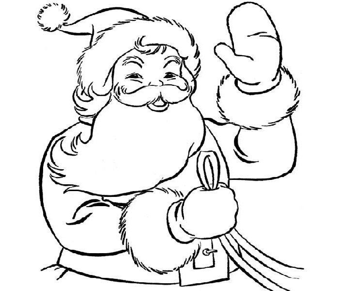 700x600 Best Santa Templates Shapes, Crafts Colouring Pages Free
