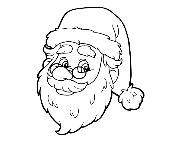 600x470 One Santa Claus Face Coloring Page