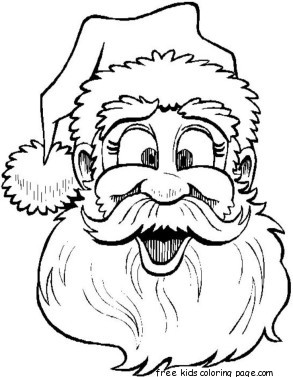 293x377 Printable Santa Claus Face Colouring Page For Kidsfree Printable