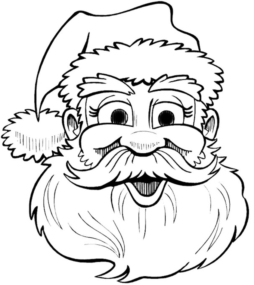 844x946 Santa Claus Face Patterns Within Coloring Pages Acpra