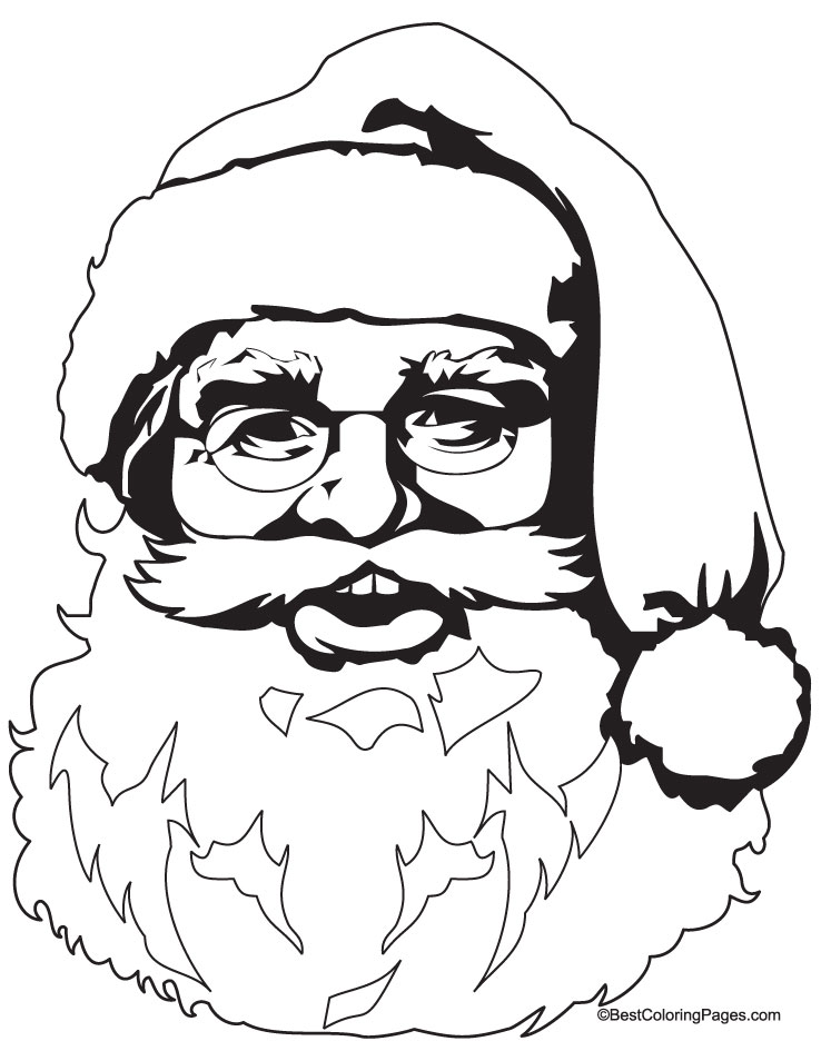 738x954 Santa Face Coloring Pages