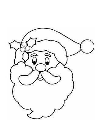 331x441 Santa Face Template Coloring Page Craft Faceeye Templates