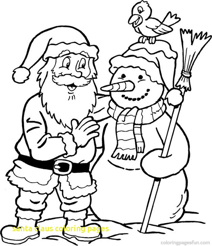 690x800 Santa Claus Coloring Pages With Christmas Santa Claus Coloring